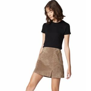 new Blank NYC ❤︎ Suede A Line Mini Skirt ❤︎ Taupe